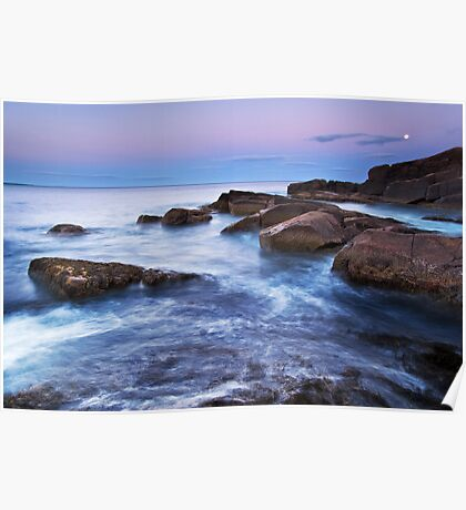 Monument Cove Moonrise Poster