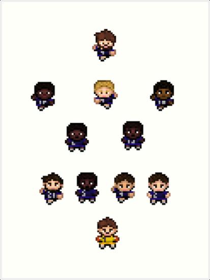 French Team World Cup Football Pixel Art Art Print By Marieb73