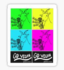 """GO VEGAN"" - GOAT B (MULTI) Sticker"