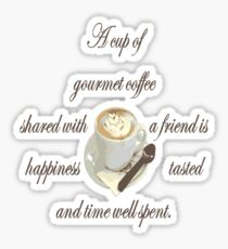 A Cup Of Gourmet Coffee Shared With A Friend Sticker