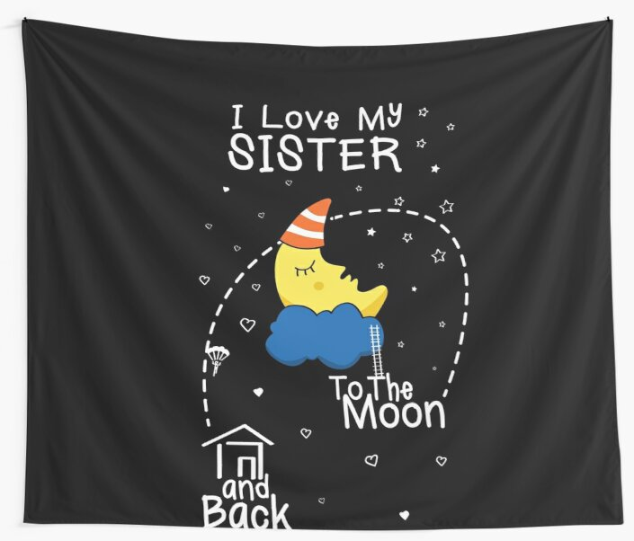 Sister Love To The Moon by shoppzee