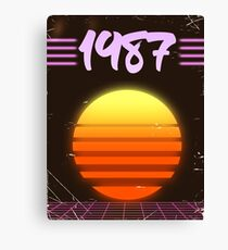1987 Sonnenuntergang Leinwanddruck