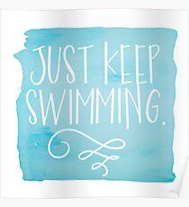 Póster Solo sigue nadando