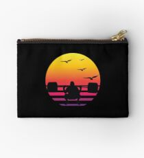 weight lifting retro sunset, #weight lifting  Studio Pouch