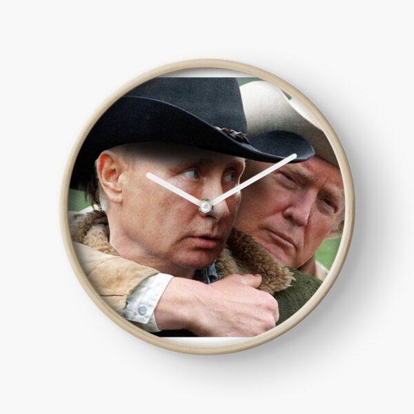 Trump/Putin Brokeback Mountain love  Clock