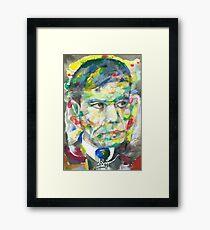 BORIS PASTERNAK - watercolor portrait.2 Framed Print