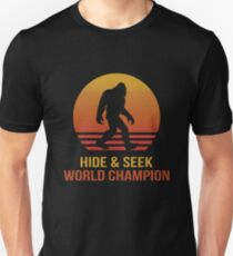 Funny Bigfoot hide & seek Unisex T-Shirt