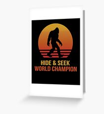Funny Bigfoot hide & seek Greeting Card