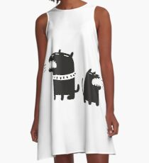Two Dogs A-Line Dress