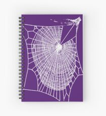 Fun Hand Drawn Spooky Halloween Spiders Web  Spiral Notebook