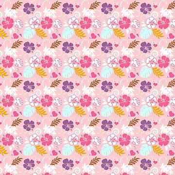 Hawaiian Spring Pattern by cafelab