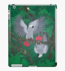 Playful Greys - African Grey Parrots iPad-Hülle & Klebefolie