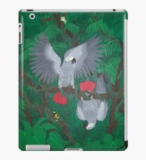 Playful Greys - African Grey Parrots iPad Case/Skin