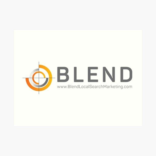 Blend Local Search Marketing Art Print
