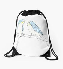 Budgies Drawstring Bag