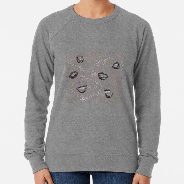 Speech Signals: White by Chrissy Curtin Lightweight Sweatshirt