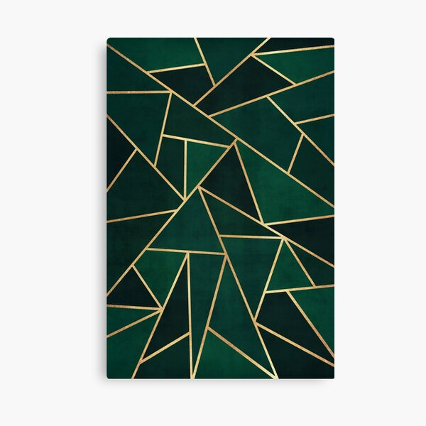 Green & Gold Pattern Canvas Print