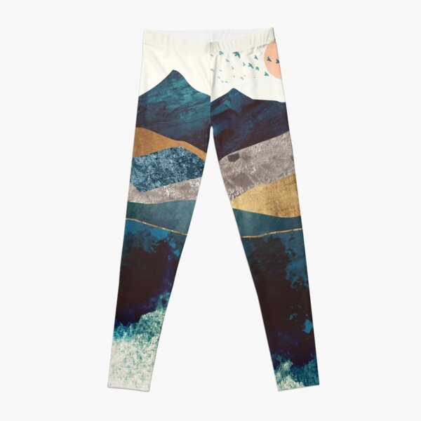 Blue Mountain Reflection Leggings