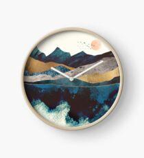 Reloj Reflexión azul de la montaña