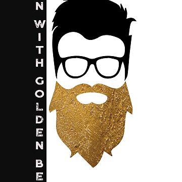man with golden beard by kartickdutta101