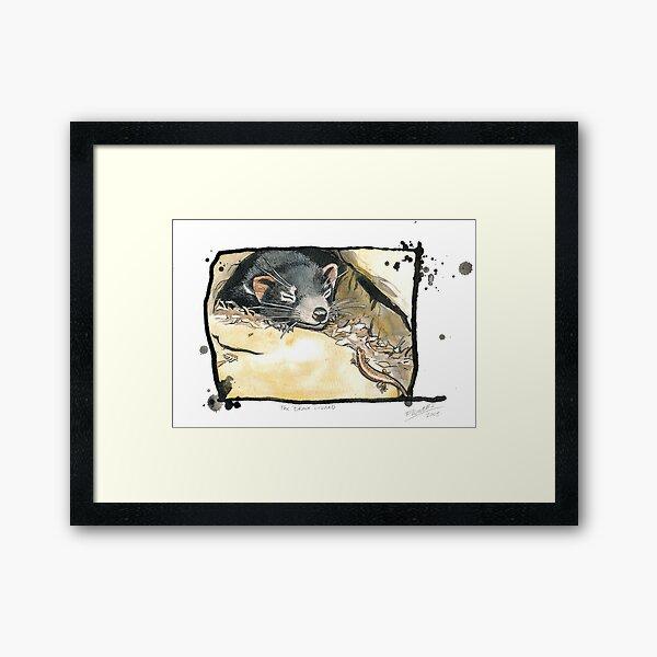 The brave lizard Framed Art Print