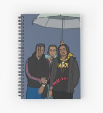 Migos Rain Drop Drop Top Spiral Notebook