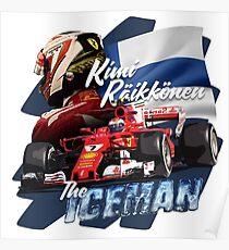 Kimi Raikkonen The Iceman Poster