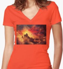 baloon valley Women's Fitted V-Neck T-Shirt