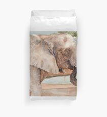 African Elephant Watercolor Duvet Cover