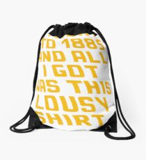 Back To The Future Lousy Shirt Drawstring Bag