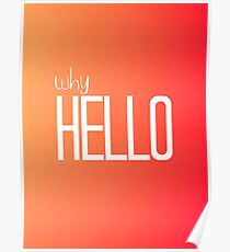 Why Hello Orange Happy Design Poster