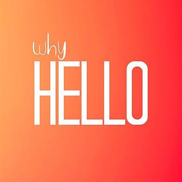 Why Hello Orange Happy Design by Claireandrewss