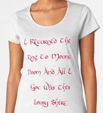 Mount Doom Lousy Shirt Women's Premium T-Shirt
