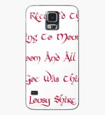 Mount Doom Lousy Shirt Case/Skin for Samsung Galaxy