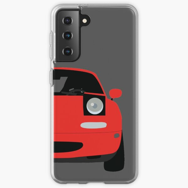 MIATA Mazda mx5 NA RED Samsung Galaxy Soft Case