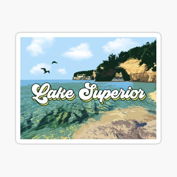 Lake Superior Retro Sticker