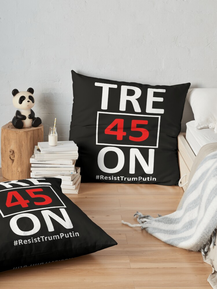 Alternative Ansicht von Tre45on Shirt mit Resist Trump Putin Hashtag Bodenkissen