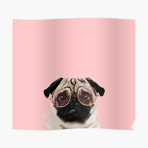 Intellectual Pug Poster