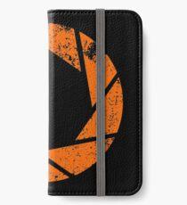 Aperture Science (Orange) Logo · Distressed iPhone Wallet/Case/Skin