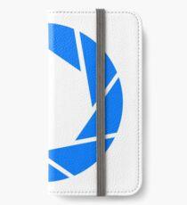 Aperture Science (Blue) Logo iPhone Wallet/Case/Skin