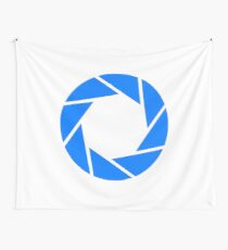 Aperture Science (Blue) Logo Wall Tapestry
