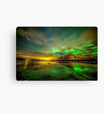 Aurora green Canvas Print