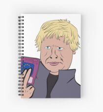 Boris Johnsons Trap Card Spiral Notebook