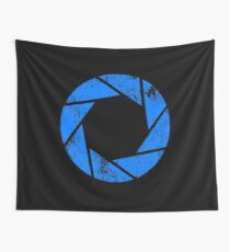 Aperture Science (Blue) Logo · Distressed Wall Tapestry