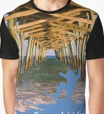 Emerald Isle North Carolina Surfs Up Graphic T-Shirt