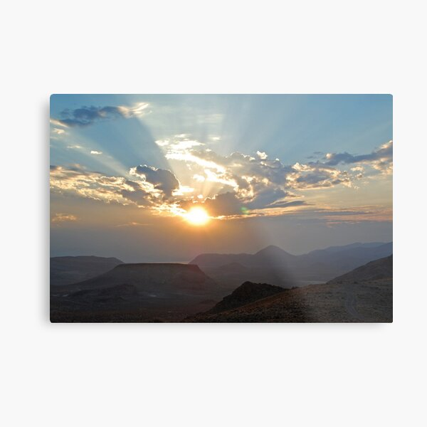 Sunrise in the Nevada Desert Metal Print