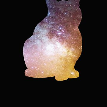 Galaxy Cat Silhouette  by BeardedAnchor