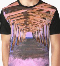 The Waves Beneath Emerald Isle Pier Graphic T-Shirt