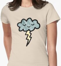 Thunder cloud Women's Fitted T-Shirt