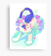 Flower Patch Cat Canvas Print